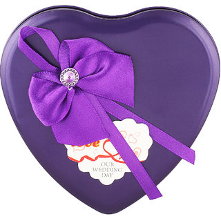 ZINIZONY Valentine Heart Boxes make an awesome gift for family, friends and work colleagues (PURPLE)