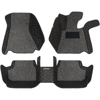 Autofurnish 5D Plus Car Mats For Volkswagen Vento - Black Grey
