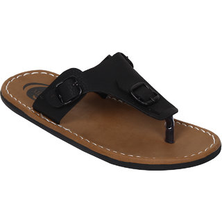Butchi Men Black Slippers