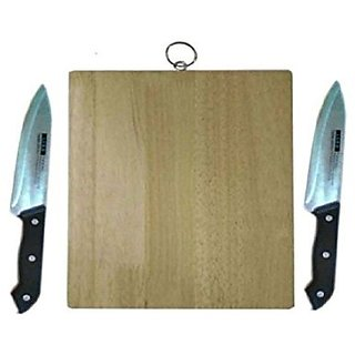 Vegetable chopping board with Two knifes