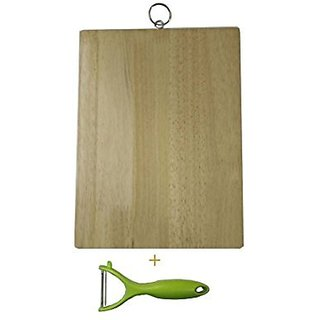 Vegetable cutting board with peeler