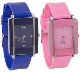 Exotica Rectangle Dial Watch For Girls