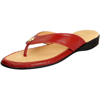 Dr.Scholls Women's Cherry Leather House and Daily Wear Flat Slippers
