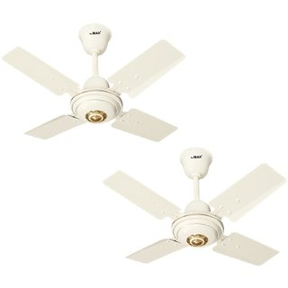 MinMax 24 Activa Pack Of Two 4 Blade Hi Speed Ceiling Fan Ivory
