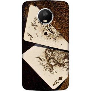 timeless design 9427f d6de3 Print Opera Hard Plastic Designer Printed Phone Cover for Moto G5 Plus  Joker cards in golden sand
