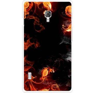 buy online e0a69 af3de Snooky Printed Fire Lamp Mobile Back Cover For Lg Optimus L7 II P715 -  Orange