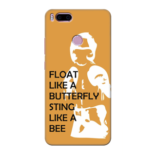 Printed Designer Back Cover For Redmi A1 - Float like a Butterfly Sting Like a Bee Design