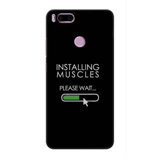 Printed Designer Back Cover For Redmi A1 - Installing Muscles Design