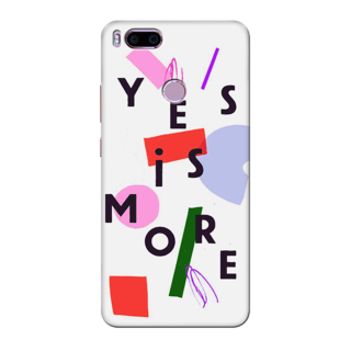 Printed Designer Back Cover For Redmi A1 - Yes is More Design