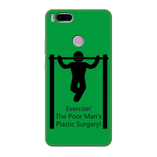 Printed Designer Back Cover For Redmi A1 - Exercise the poormans plastic surgery Design