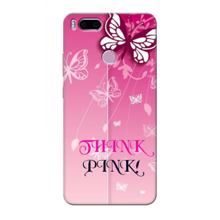 Printed Designer Back Cover For Redmi A1 - Think Pink Design