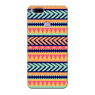 Printed Designer Back Cover For Redmi A1 - Tribal Pattern Design
