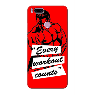 Printed Designer Back Cover For Redmi A1 - Every workout counts Design