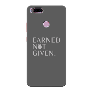 Printed Designer Back Cover For Redmi A1 - Earned not Given Design
