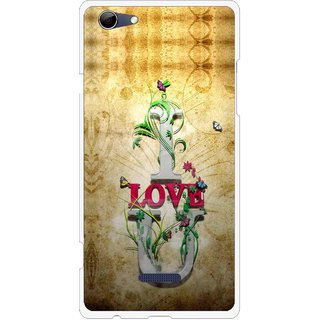 Snooky Printed I Love You Mobile Back Cover For Micromax Canvas Selfie 3 Q348 - Brown