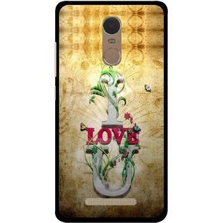 Snooky Printed I Love You Mobile Back Cover For Gionee S6s - Brown