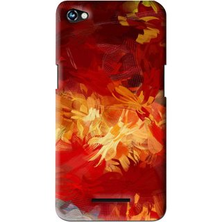Snooky Printed Flamy Fire Mobile Back Cover For Micromax Canvas Hue 2 - Red