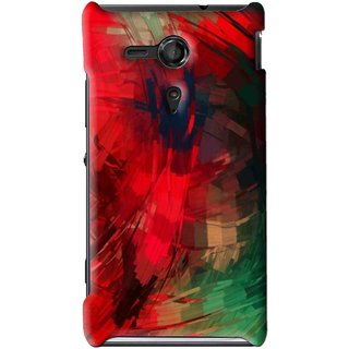 sports shoes ce750 fdfc6 Snooky Printed Modern Art Mobile Back Cover For Sony Xperia SP - Red