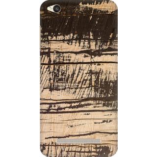 Printed Designer Back Cover For Redmi 5A - Dark Wood Panel Design