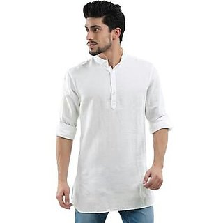 White plain kurta