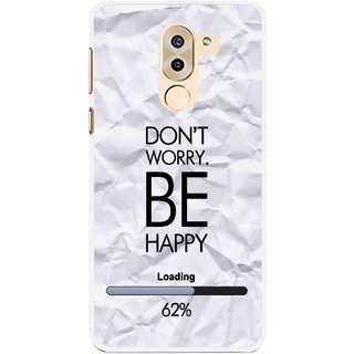 Snooky Printed Be Happy Mobile Back Cover For Huawei Honor 6X - Grey
