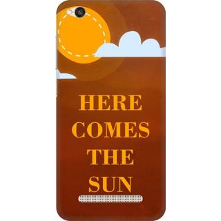 Printed Designer Back Cover For Redmi 5A - Here Comes the sun Design