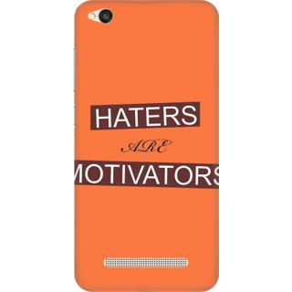 Printed Designer Back Cover For Redmi 5A - Haters are Motivators Design
