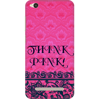 Printed Designer Back Cover For Redmi 5A - Think Pink Design