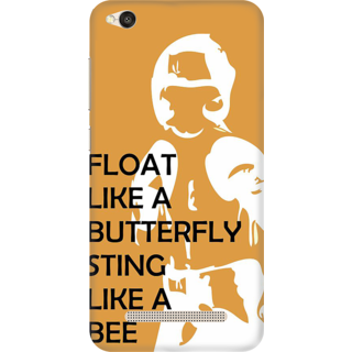 Printed Designer Back Cover For Redmi 5A - Float like a Butterfly Sting Like a Bee Design