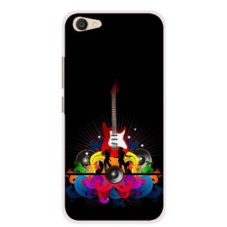 official photos dc199 83ed3 Snooky Printed Rainbow Music Mobile Back Cover For Vivo V5 Plus - Black