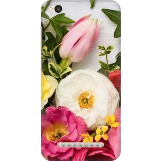 Printed Designer Back Cover For Redmi 5A - Multicolor Roses Design