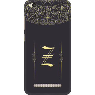 Printed Designer Back Cover For Redmi 5A - Gold Color Name Initial Alphabet Z Design