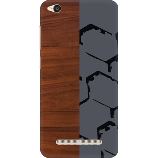 Printed Designer Back Cover For Redmi 4A - Wooden Texture Design