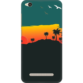 Printed Designer Back Cover For Redmi 4A - Nature Birds Sunset Design