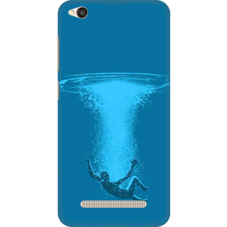 Printed Designer Back Cover For Redmi 4A - Fall in Water Design