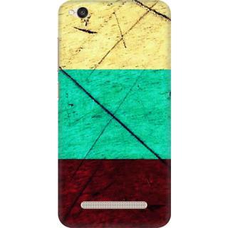 Printed Designer Back Cover For Redmi 4A - Color Art Wood Panel Design