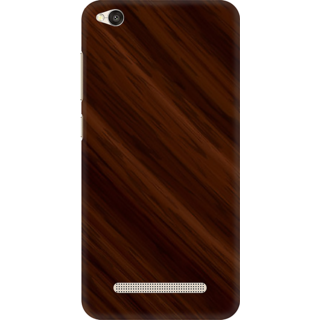 Printed Designer Back Cover For Redmi 4A - Wooden Panel Design