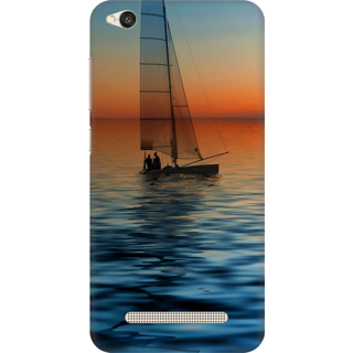 Printed Designer Back Cover For Redmi 4A - Yatching Water Design