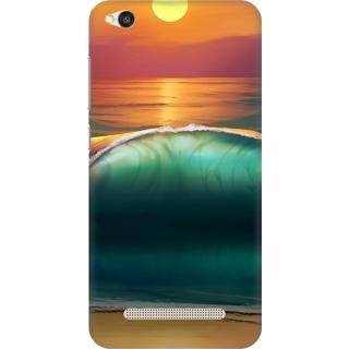 Printed Designer Back Cover For Redmi 4A - Creative Wave Design