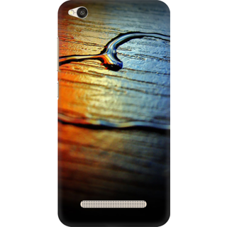 Printed Designer Back Cover For Redmi 4A - Water Heart Drawing Design