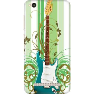 Printed Designer Back Cover For Redmi 4A - Guitar Design