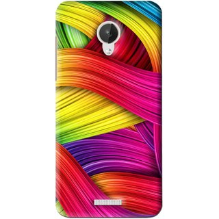 Snooky Printed Color Waves Mobile Back Cover For Micromax Canvas Spark Q380  - Multi