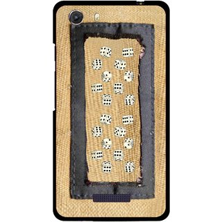 Snooky Printed Dice Mobile Back Cover For Micromax Canvas Unite 3 - Brown