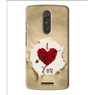 Snooky Printed Love Heart Mobile Back Cover For Moto X3 - Multi