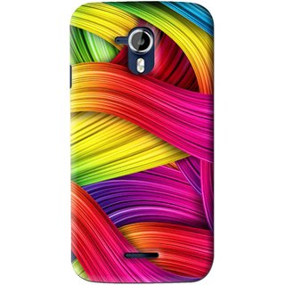Snooky Printed Color Waves Mobile Back Cover For Micromax Canvas Magnus A117 - Multi