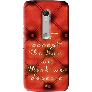 Snooky Printed We Deserve Mobile Back Cover For Motorola Moto X Play - Red
