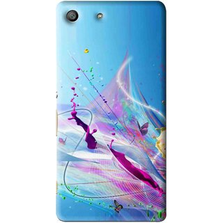 Snooky Printed Blooming Color Mobile Back Cover For Sony Xperia M5 - Multi