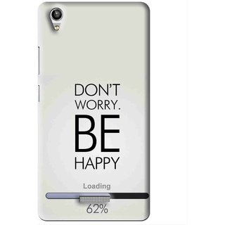 Snooky Printed Be Happy Mobile Back Cover For Lava Pixel V1 - Grey
