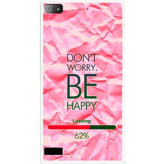 Snooky Printed Be Happy Mobile Back Cover For Blackberry Z3 - Pink