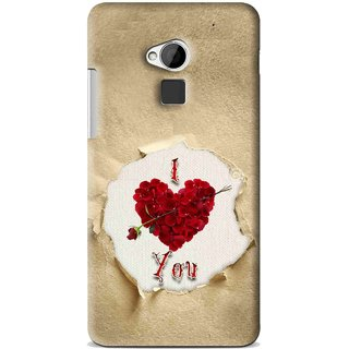 Snooky Printed Love Heart Mobile Back Cover For HTC One Max - Multi